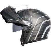 AGV Sportmodular Carbon Klapphelm silber Größe 3XL