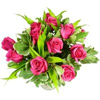 Two Dozen Deluxe Pink Roses