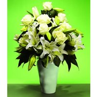 White Rose & Lily Bouquet
