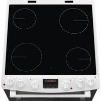 Zanussi ZCV668MW 60cm Double Electric Cooker with 4 Zone Ceramic Hob