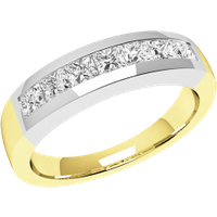 A breathtaking Princess Cut diamond eternity ring in 9ct yellow & white gold - Purely Diamonds Gifts