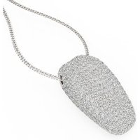 A stunning Round Brilliant Cut pave diamond necklace in 18ct white gold (In stock) - Wedding Gifts