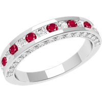 A breathtaking ruby & diamond eternity ring in 18ct white gold - Ruby Gifts