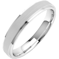 A stylish ladies mixed finish wedding ring in platinum - Wedding Ring Gifts