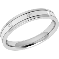 A striking ladies diamond set wedding ring in platinum - Wedding Ring Gifts