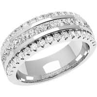 A breathtaking diamond set ladies wedding ring in 18ct white gold - Wedding Ring Gifts