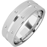 A beautiful mixed finish mens ring in platinum - Beautiful Gifts