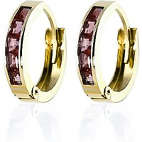 Click to view product details and reviews for Garnet Huggie Earrings 13ctw in 9ct Gold.
