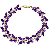 Amethyst Butterfly Bracelet 16.5ctw in 9ct Gold - Fashion Gifts