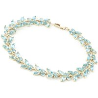 Blue Topaz Butterfly Bracelet 16.5ctw in 9ct Gold - Gold Gifts