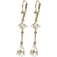 Aquamarine Two Tier Drop Earrings 3.75ctw in 9ct Gold