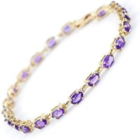 Amethyst Infinite Tennis Bracelet 5.5ctw in 9ct Gold - Sport Gifts