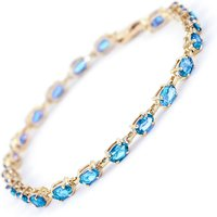 Blue Topaz Infinite Tennis Bracelet 5.5ctw in 9ct Gold - Sport Gifts