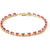 Ruby Infinite Tennis Bracelet 8.0ctw in 9ct Gold - Fashion Gifts