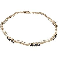 Sapphire and Diamond Trinity Tennis Bracelet 1.75ctw in 9ct Gold - Sport Gifts