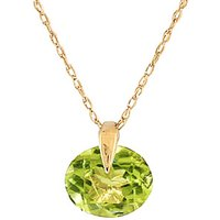 Round Brilliant Cut Peridot Pendant Necklace 1.0ct in 9ct Gold - Fashion Gifts