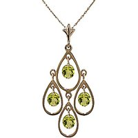 Peridot Quadruplo Milan Pendant Necklace 1.2ctw in 9ct Gold - Fashion Gifts