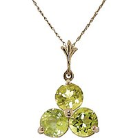 Peridot Trinity Pendant Necklace 0.75ctw in 9ct Gold - Fashion Gifts