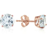 Click to view product details and reviews for Aquamarine Stud Earrings 095ctw in 9ct Rose Gold.