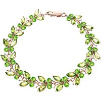 Peridot Butterfly Bracelet 16.5ctw in 9ct Rose Gold - Fashion Gifts