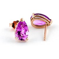Pink Topaz Stud Earrings 3.15ctw in 9ct Rose Gold - Pink Gifts