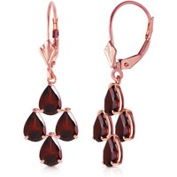 Garnet Drop Earrings 4.5ctw in 9ct Rose Gold