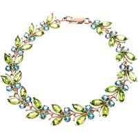Peridot and Blue Topaz Butterfly Bracelet 16.5ctw in 9ct Rose Gold - Fashion Gifts