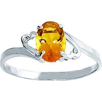 Sterling Silver 0.75ct Citrine Ring