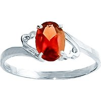 Sterling Silver 0.75ct Garnet Ring