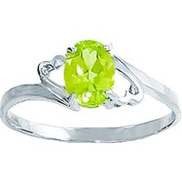 Sterling Silver 0.75ct Peridot Ring