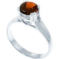 Sterling Silver 1.10ct Garnet Solitaire Ring
