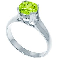 Sterling Silver 1.10ct Peridot Solitaire Ring