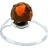 Sterling Silver 2.20ct Garnet Ring