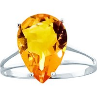 Sterling Silver 5.0ct Citrine Ring