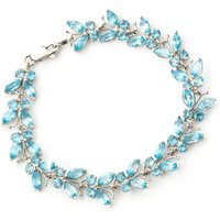 Blue Topaz Butterfly Bracelet 16.5ctw in 9ct White Gold - Bracelet Gifts