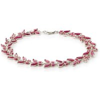 Ruby Butterfly Bracelet 16.5ctw in 9ct White Gold - Butterfly Gifts