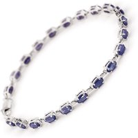 Sapphire Infinite Tennis Bracelet 8.0ctw in 9ct White Gold - Sport Gifts