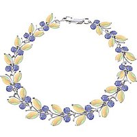 Opal and Tanzanite Butterfly Bracelet 10.5ctw in 9ct White Gold - Fashion Gifts