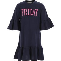 Alberta Ferretti Girls Dress On Sale, navy, Cotton, 2019, 10Y 12Y 4Y 6Y 8Y