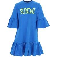 Alberta Ferretti Girls Dress On Sale, Light Blue, Cotton, 2019, 10Y 14Y 4Y