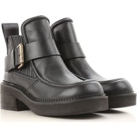 Chloe Boots for Women, Booties On Sale in Outlet, Black, Leather, 2019, 4.5 5.5 6.5