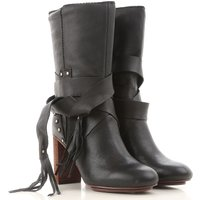 See By Chloe Boots for Women, Booties On Sale in Outlet, Black, Leather, 2019, 4.5 6 6.5