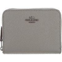 Coach Wallet for Women, Medium Grey, Leather, 2019