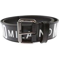 Moschino Mens Belts, Black, Leather, 2019, 48 (90 - 95 cm) 50 (100 - 105 cm) 52 (110 - 115 cm) 54 (1