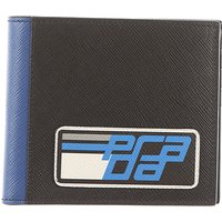 Prada Wallet for Men, Black, Leather, 2019