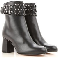 Valentino Garavani Boots for Women, Booties On Sale, Red Valentino, Black, Leather, 2019, 5.5 6 7.5