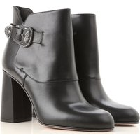 Valentino Garavani Boots for Women, Booties On Sale, Red Valentino , Black, Leather, 2019, 3.5 4.5 5