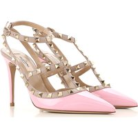 Valentino Garavani Sandals for Women On Sale, Pink, Patent Leather, 2019, 5.5