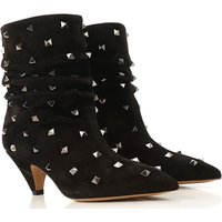 Valentino Garavani Boots for Women, Booties On Sale, Black, Suede leather, 2019, 3.5 4 5.5 6.5