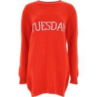 Alberta Ferretti Sweater for Women Jumper, Red, Virgin wool, 2019, 10 8